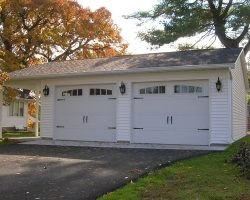 #L0250 - Detached Garage with Gable Patio in Decatur