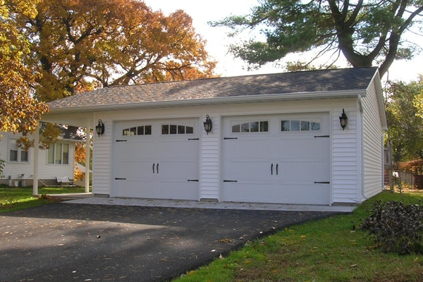 Garage With Gable Patio Coach House Garages Of Decatur