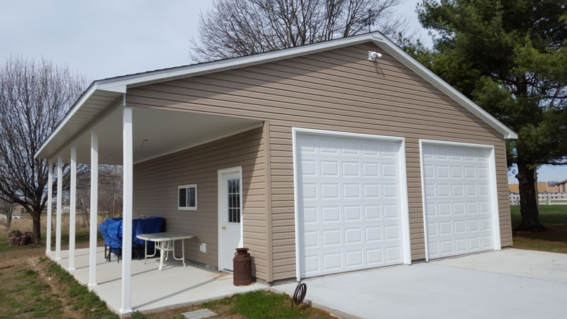 Garage With Patio In Effingham Coach House Garages Of